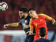 China struggled to keep up the pressure against Guam. AFP