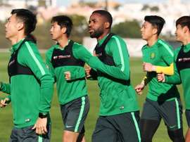 Bakambu has trained with his new team. AFP