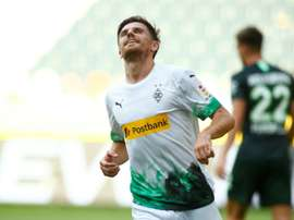 Jonas Hofmann got a brace in Gladbach's 3-0 win over Wolfsburg. AFP