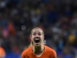 Groenen hardly shoots and scored just her third goal of her international career v Sweden. AFP