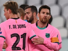 Messi and De Jong aren't in the squad. AFP