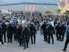 Segunda onda de detenções por causa dos incidentes no encontro com o Olympique de Lyon. AFP