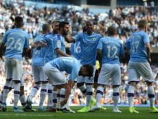Manchester City beat Watford 8-0. AFP