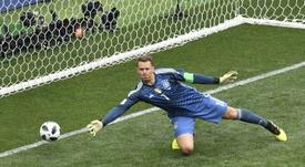 Neuer fue titular ante México. AFP
