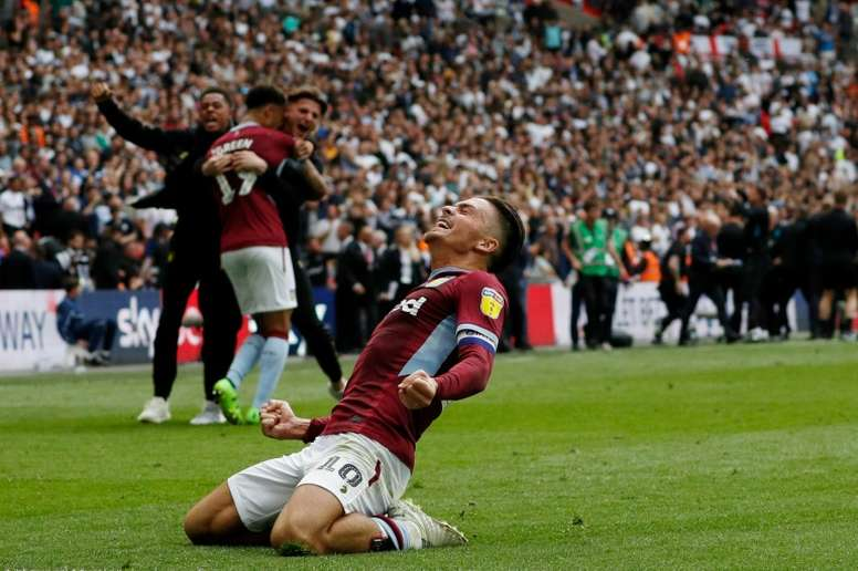 Jack Grealish could become the big talking point of the transfer market. AFP