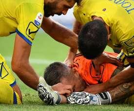 O adeus de Sorrentino do futebol. AFP