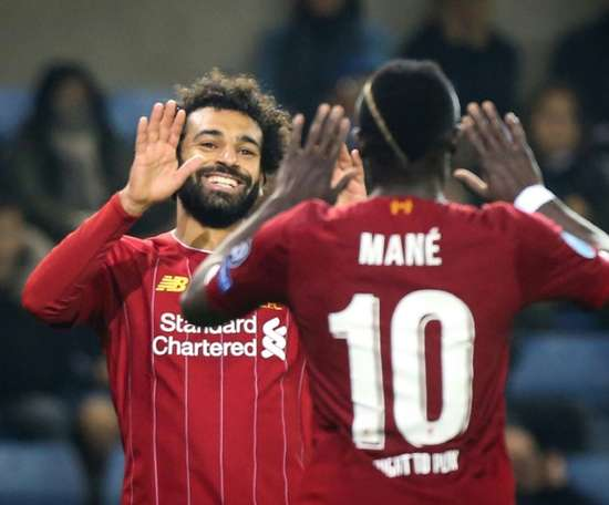 Salah and Mané, Liverpool's best according to Klopp. AFP