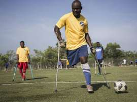 Haiti are hoping to make a splash at the amputee World Cup. AFP