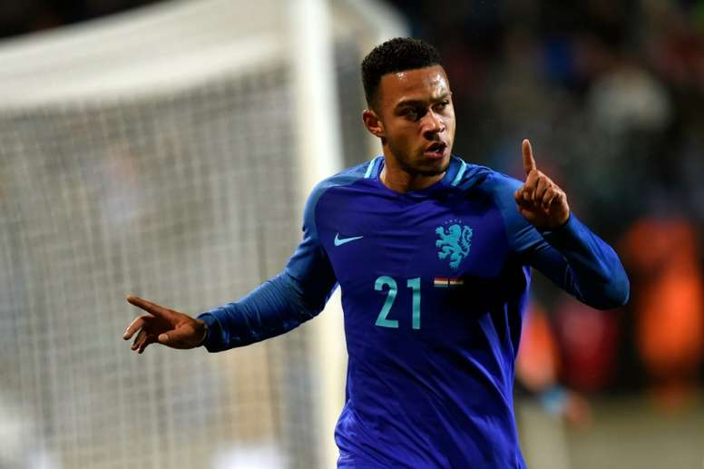 Depay has failed to nail down a regular place in the United team. AFP