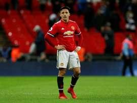 Mourinho recadre Rojo sur Alexis Sánchez. AFP