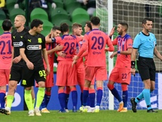 Chelsea struck three late goals to condemn Krasnodar to a heavy defeat. AFP