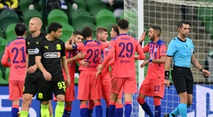 Chelsea struck three late goals to condemn Krasnodar to a heavy defeat. AFP