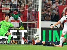 Friedrich deflected in Gomez's shot before equalising for Union Berlin. AFP