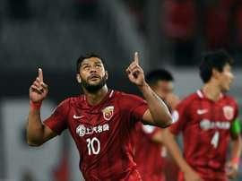 Hulk poderá abandonar o campeonato chinês na próxima temporada. AFP