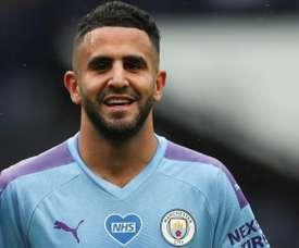 Mahrez hails Man City goalscoring power. AFP