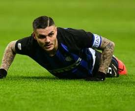Icardi compte ses heures à l'Inter. EFE