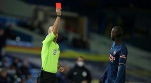 Nicolas Pépé s'excuse après son expulsion. AFP