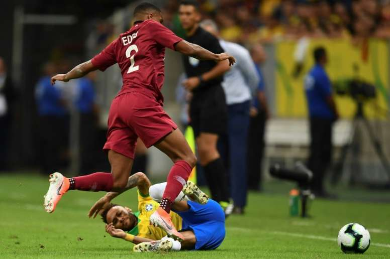 Neymar will miss the Copa America after getting injured against Qatar. AFP