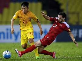 Syria's late equaliser left China's world cup hopes hanging by a thread. AFP
