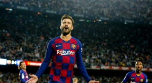 Barcelona defender Gerard Pique attempted to buy Notts County last summer. AFP