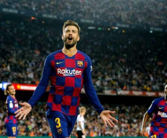 Barcelona defender Gerard Pique attempted to buy Notts County last summer. AFP