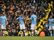 Manchester City were stunned by Wolves at the Etihad Stadium. AFP