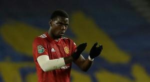 Pogba's free-kick led to the third goal. AFP