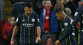 Riyad Mahrez failed to score from 12 yards. AFP