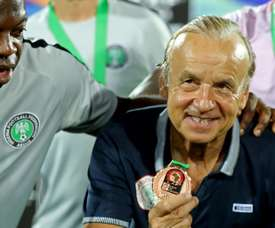 Gernot Rohr will pen a new deal with Nigeria next week. AFP
