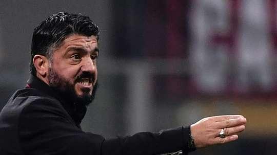 Gennaro Gattuso treinador do Milan. AFP