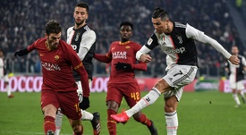 La Juve ganaba 3-0 al descanso. AFP