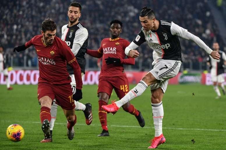 Le groupe de la Juventus pour affronter l'AS Roma. afp