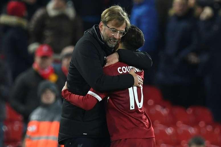 Klopp intentó por todos los medios que el jugador no abandonará Liverpool. AFP