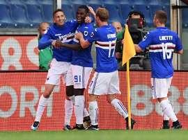 Sampdoria sprang a shock to beat Juve. AFP