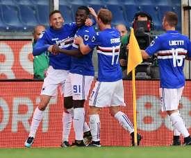 La Sampdoria réalise un grand coup avec cette victoire. AFP