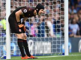 Cech has been out for over a month. AFP