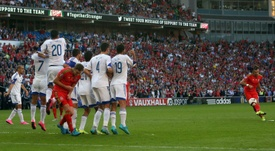 Gareth Bale is his country's free-kick taker. AFP