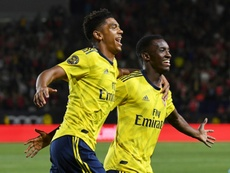 Nketiah gives youthful Arsenal friendly win over Bayern. AFP