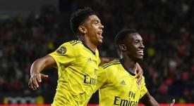 Nketiah could change teams in England. AFP
