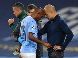 Guardiola says injuries starting to bite for Man City. AFP