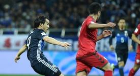 Okazaki, orgulloso por el papel de su selección en la Copa América. AFP