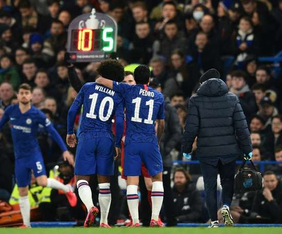 Pedro says goodbye to Chelsea. AFP