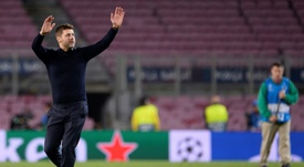 Pochettino has hailed his side after their Nou Camp heroics. AFP