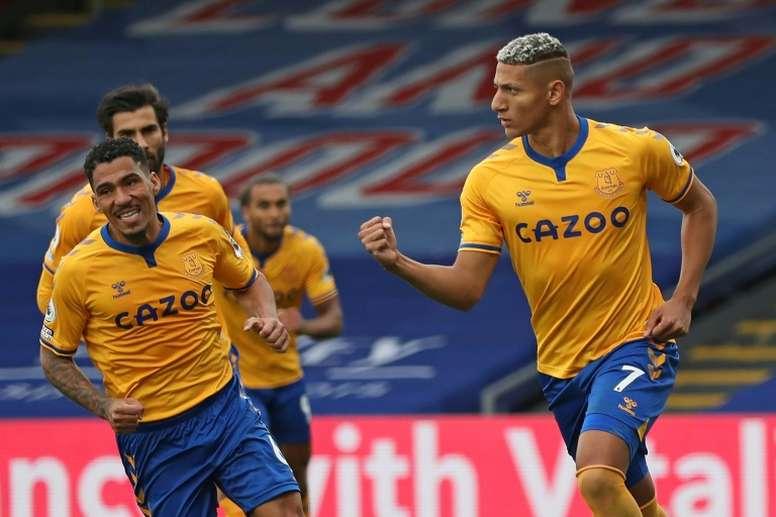 Everton won 2-1. AFP