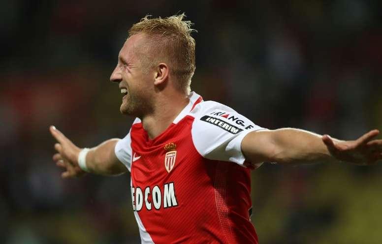 Glik abrió la cuenta para el Mónaco ante el Montpellier. AFP