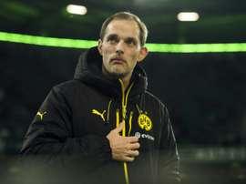 L'entraîneur du Borussia Dortmund Thomas Tuchel lors d'un match contre Wolfsburg. AFP