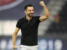 Al Sadds Spanish coach Xavi Hernandez celebrated as his team scored. AFP