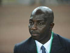Nigerias coach Samson Siasia, pictured on March 27, 2011, has threatened to quit, claiming he hasnt been paid his salary for the past five months
