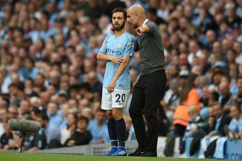 Guardiola defends Bernardo Silva over racism ban. AFP