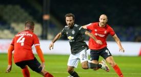 United beat Luton 3-0. AFP
